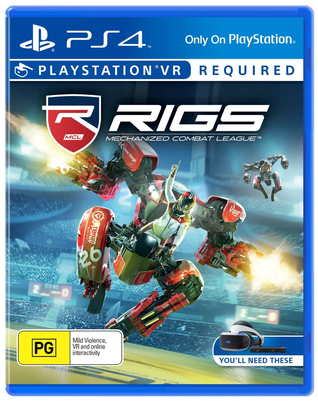 Sony - PS4 Playstation VR RIGS: Mechanized Combat League Game